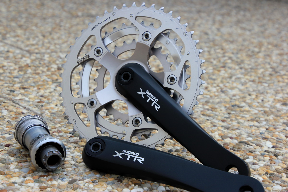 Shimano XTR FC-M952 Re-painted + Shimano XTR M952 BB